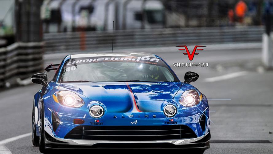 PHOTO - Et si l'Alpine A110 GT4 ressemblait à ça ?