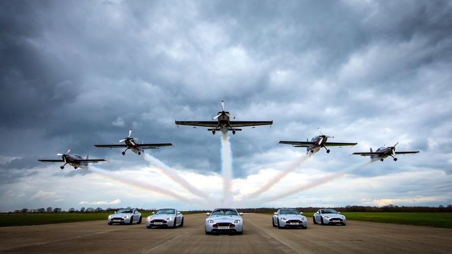 Aston Martin V8 Vantage S Blades Edition delivery includes aerobatic flight