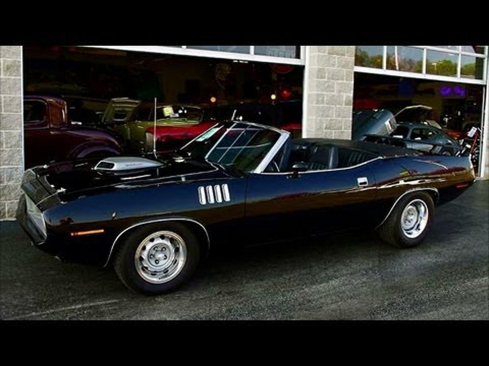 1971 Plymouth Barracuda 440 V8 Triple Black Convertible