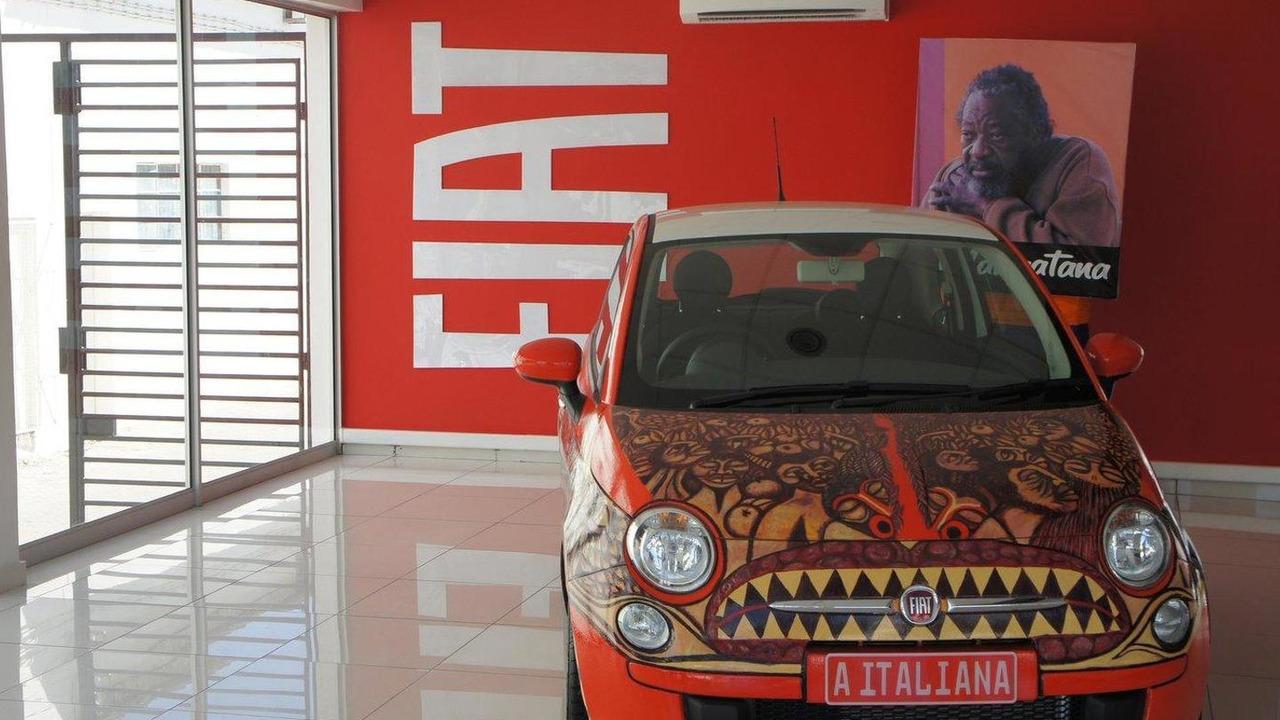 Fiat 500 art car by Mozambican artist, Malangatana Valente Ngwenya 29.04.2011