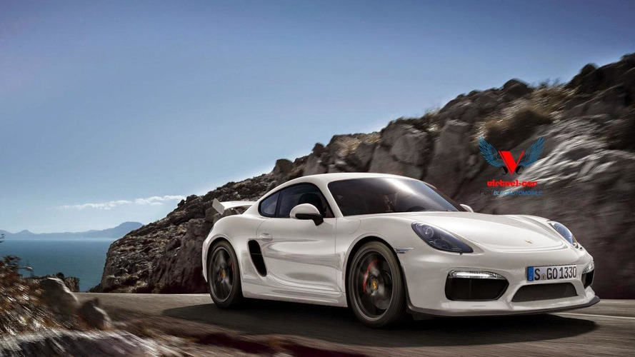 Porsche Cayman GT4 speculatively rendered