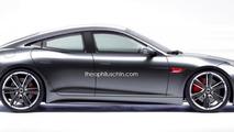 Jaguar F-Type four-door coupe rendering