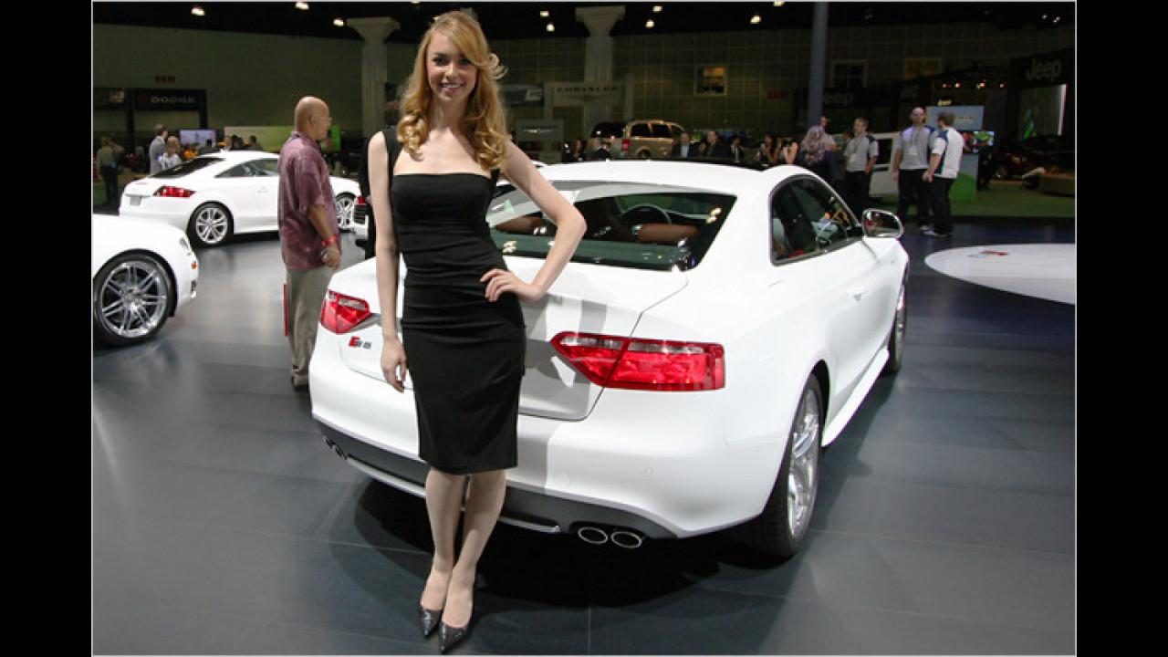 Audi hat seine Schönheiten in Schwarz und Weiß gekleidet