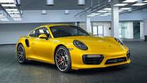 Porsche 911 Turbo Yellow Saffron Metallic Paint