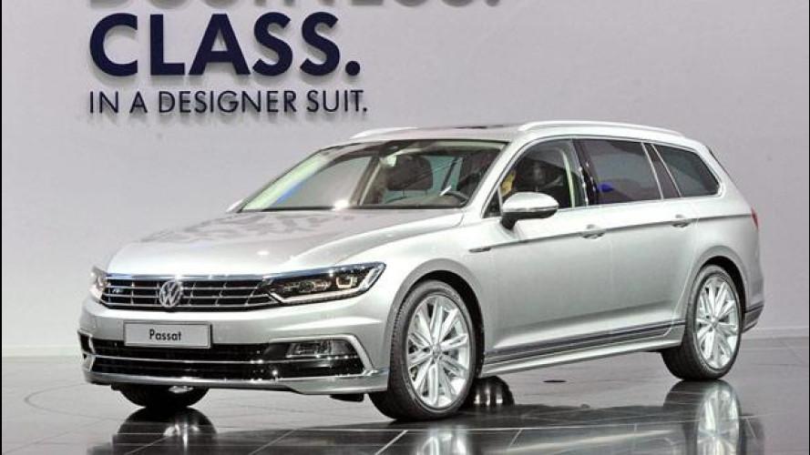 Nuova Volkswagen Passat, vista dal vivo
