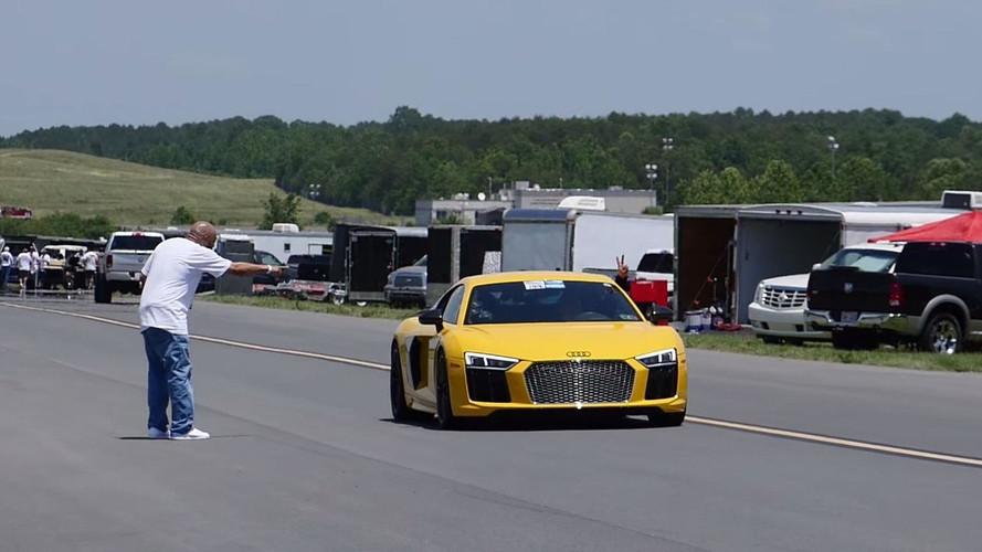 Un Audi R8 con más de 2.500 CV alcanza 394 km/h