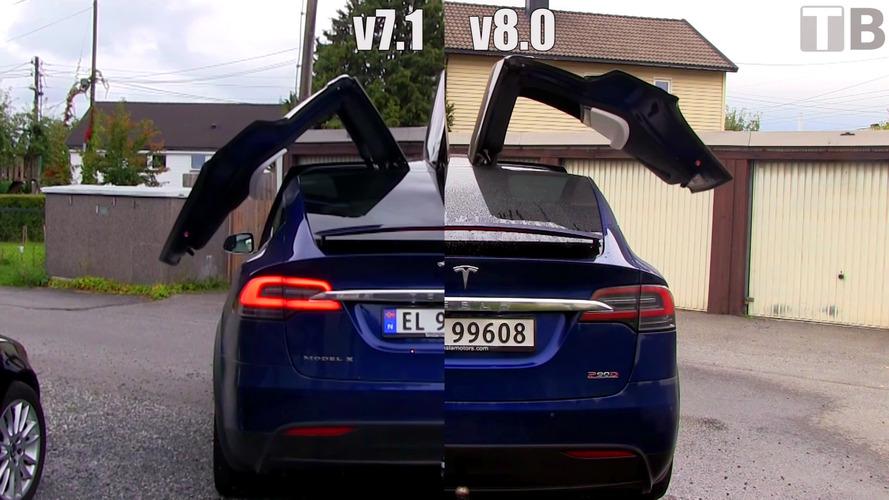 Tesla v8.0 güncellemesi Model X'i 'hızlandırdı'