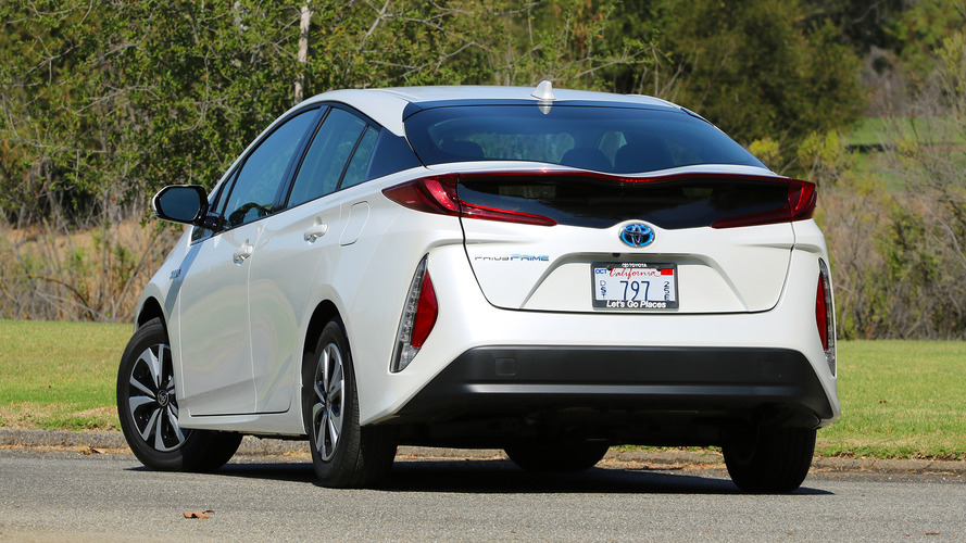 White Prius Prime First Drive 2017 Toyota