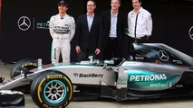 Qualcomm are announed as official technology partner for the Mercedes AMG F1 team, Mercedes AMG F1 Shareholder and Executive Director; Derek Aberle, Qualcomm Incorporated President; Toto Wolff, Mercedes AMG F1 Shareholder and Execu