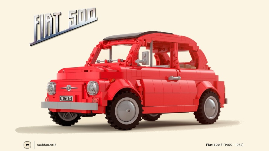 LEGO'dan klasik Fiat 500 seti