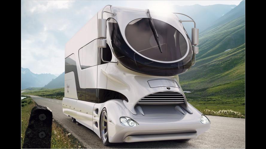 Luxus-Wohnmobil mit 510 PS und Dachterrasse