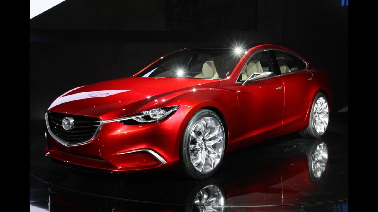 """Mazda divulga primeiro teaser em vídeo e avisa: """"Não é o TAKERI, mas sim o novo Mazda6"""""""