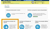Transferência online de pontos da CNH