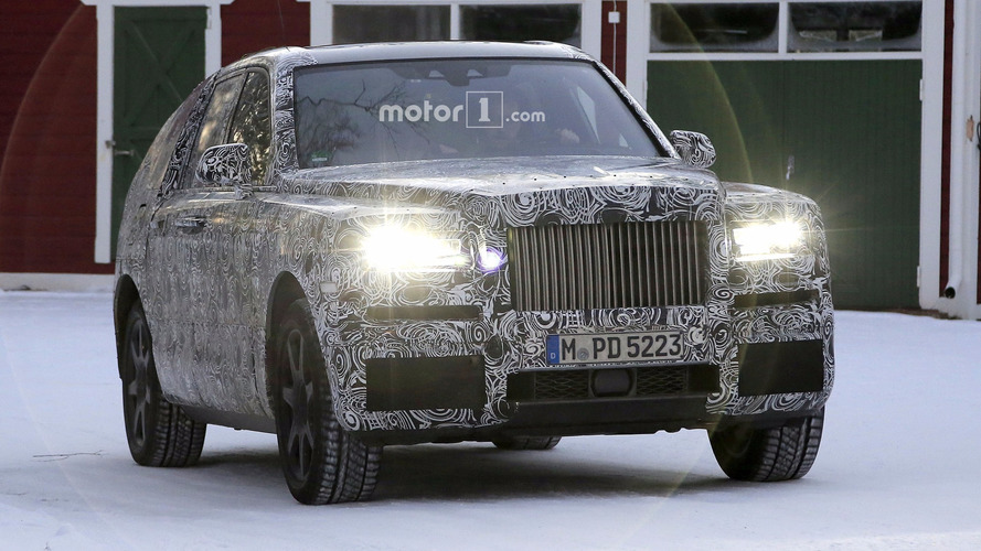 2019 Rolls-Royce Cullinan photos espion