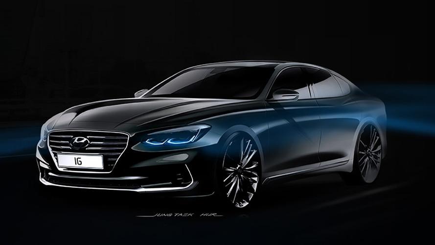 Hyundai, daha keskin 2017 Azera'nın çizimlerini yayınladı