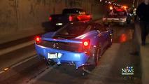 Ferrari, Lamborghini crash, Vancouver