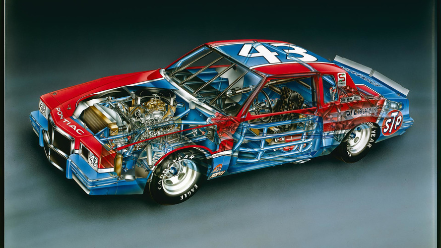 Teknik çizim: 1982 Richard Petty No. 43 Pontiac Grand Prix