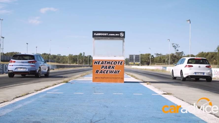 Hot Hatch Showdown: VW Golf GTI Drag Races Hyundai i30 N