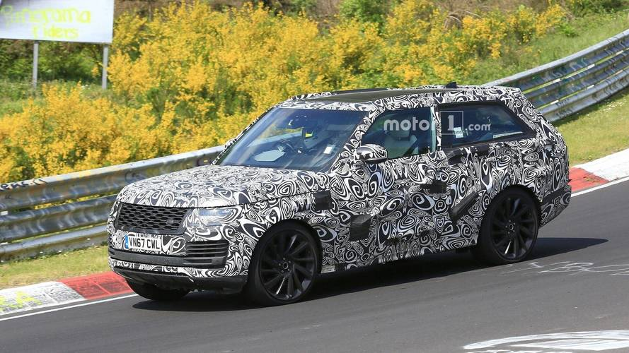 Range Rover SV Coupe spied at the Nurburgring