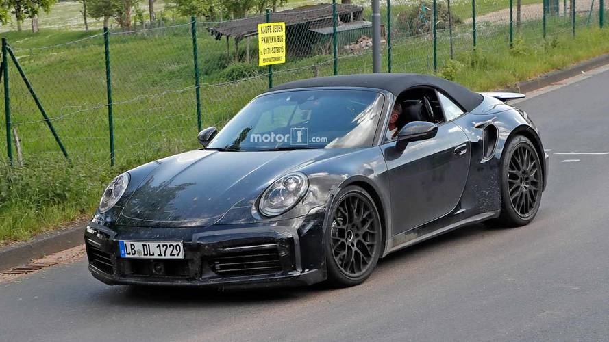 Porsche 911 Turbo Cabriolet Spied Preparing For Topless Speeding