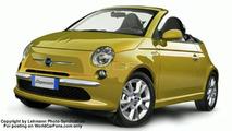 Fiat 500 convertible artist interpretation