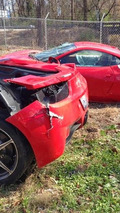 Ferrari 458 Italia after accident