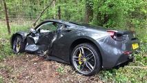 Ferrari 488 GTB Crash