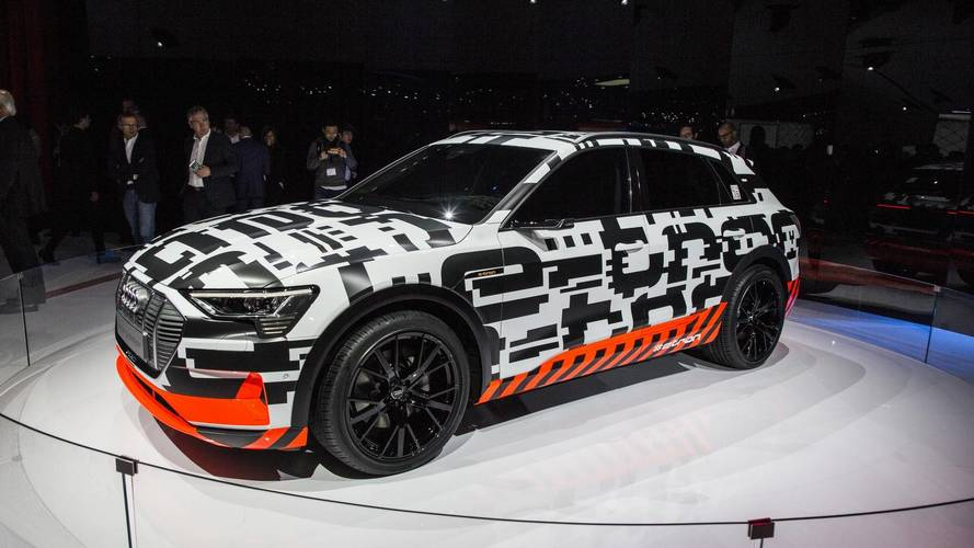 Audi E-Tron All-Electric SUV Prototype Shown In Geneva