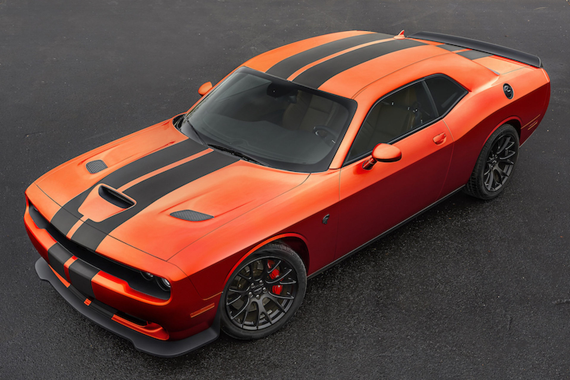 Orange You Glad You Can Buy a Dodge Challenger cat in 'Go Mango'?