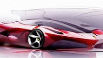 LaFerrari design sketch rendering 1100