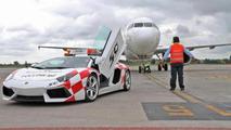 Lamborghini Aventador as Bologna Airport vehicle