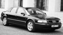 Audi A8 throughout the years