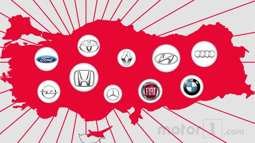 Türkiye'de en çok aratılan 12 otomobil markası