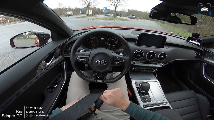 Watch A Kia Stinger GT Hit 168 MPH On The Autobahn