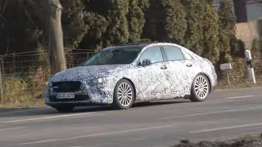 Mercedes A-Class Sedan Spotted With Mannequin On The Back Seat
