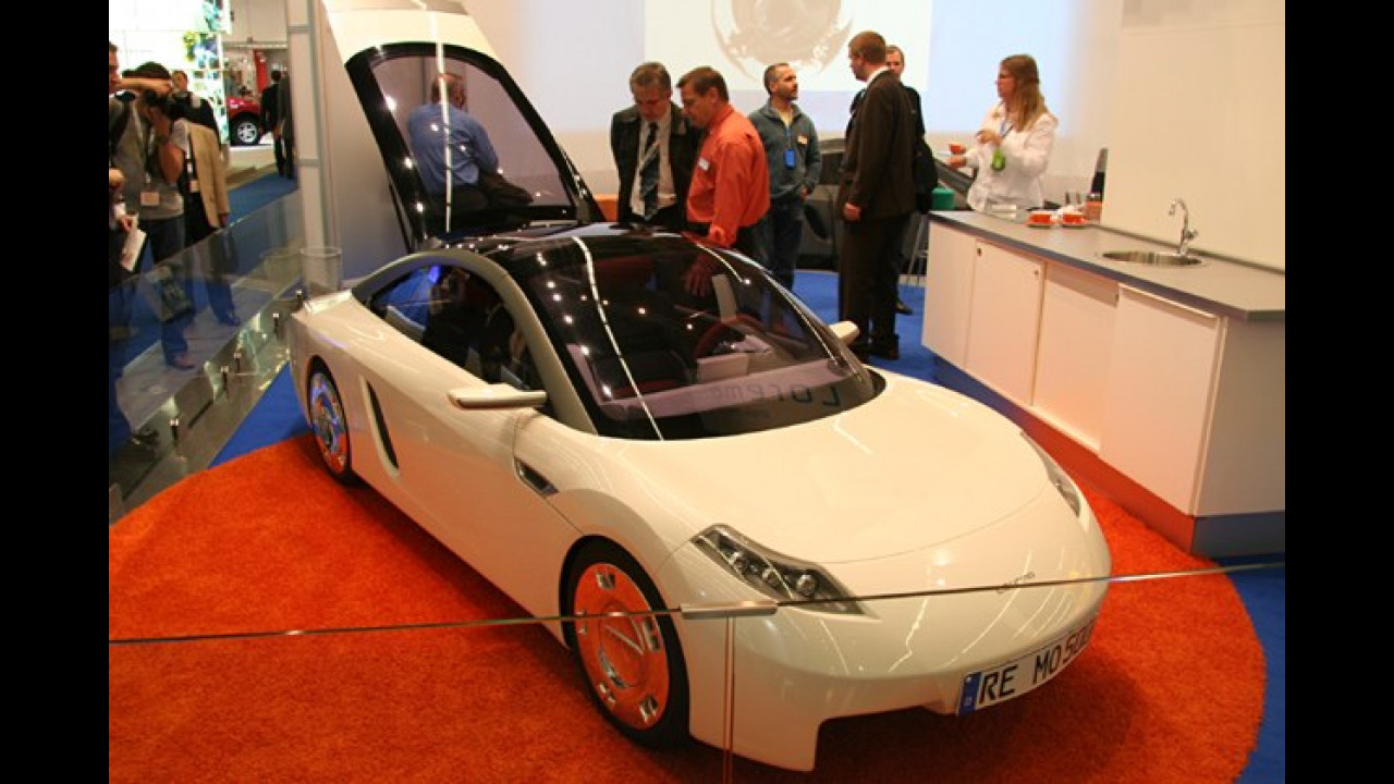Der Loremo (Low Resistance Mobile) L1 ist die schon bekannte Studie zum Erprobungsfahrzeug