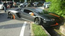Lamborghini Aventador crash en Malaisie