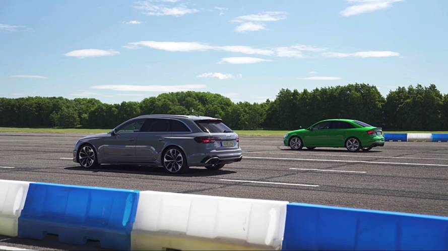 Watch Audi RS3 Keep Up With RS4 Avant In Sibling Rivalry Race