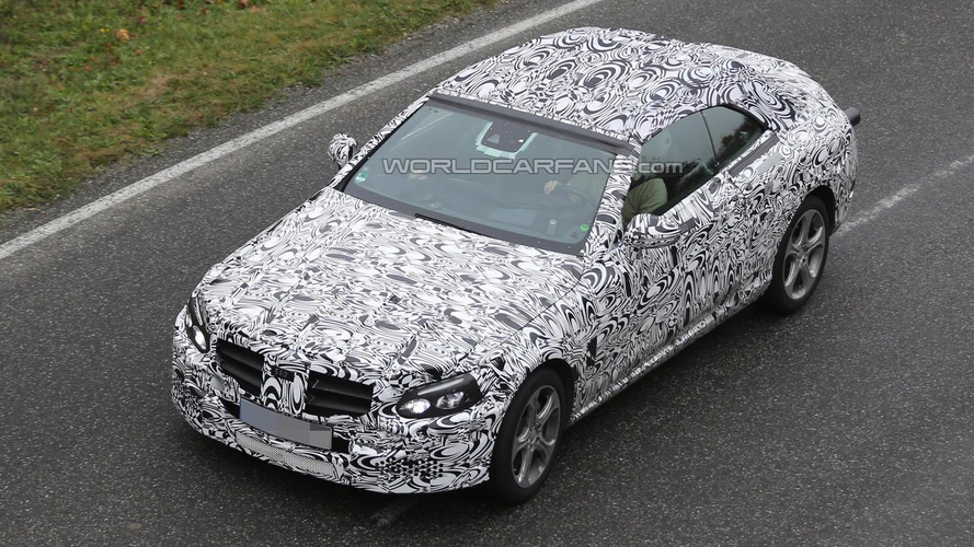 Mercedes-Benz C-Class Cabriolet shows production soft top in latest spy pics