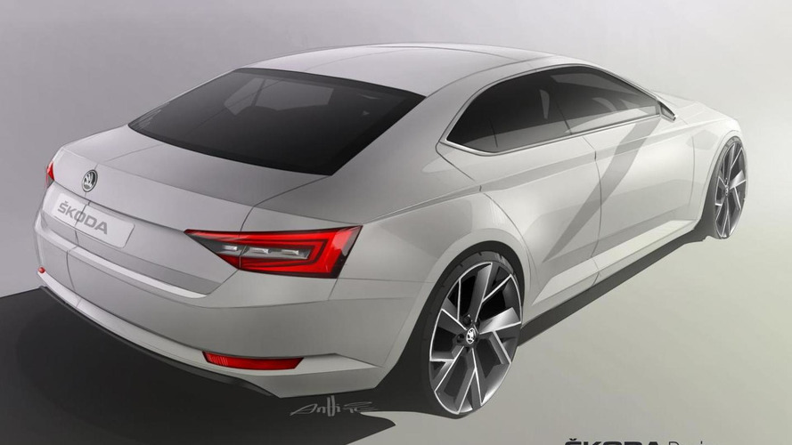 New Skoda Superb teased again, debut confirmed for mid-February 2015