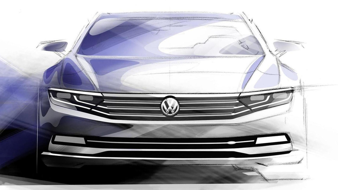 2015 Volkswagen Passat official sketch