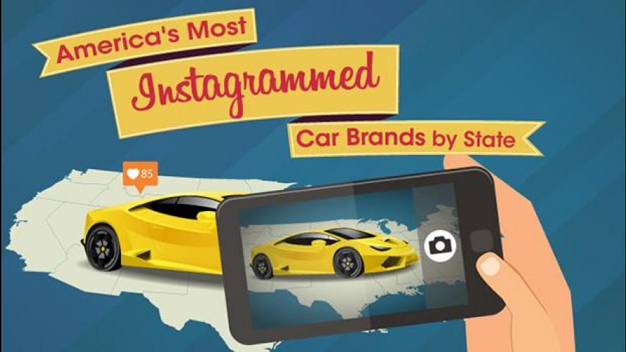 Auto e selfie, ecco i 10 marchi più gettonati su Instagram