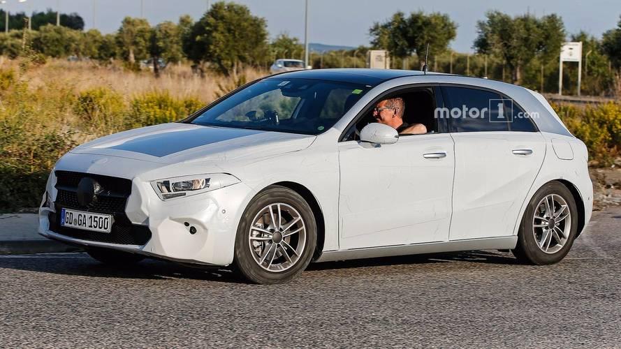 Next-generation Mercedes A-Class, A45, saloon spy photos