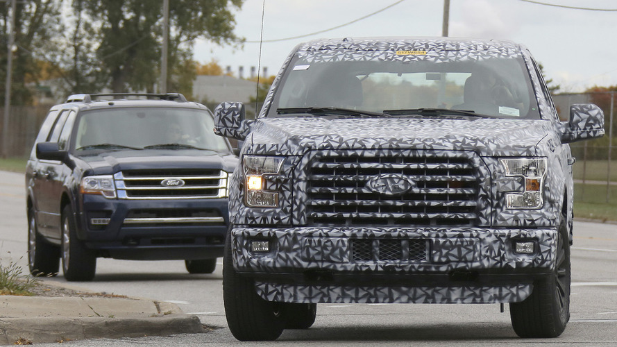 2018 Ford Expedition spied showing its F-150 inspired styling