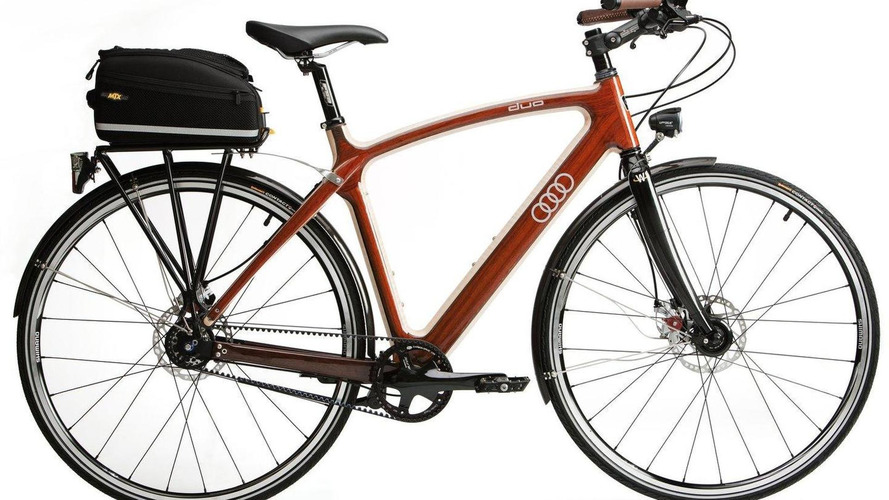 Audi unveils its new...hardwood bike