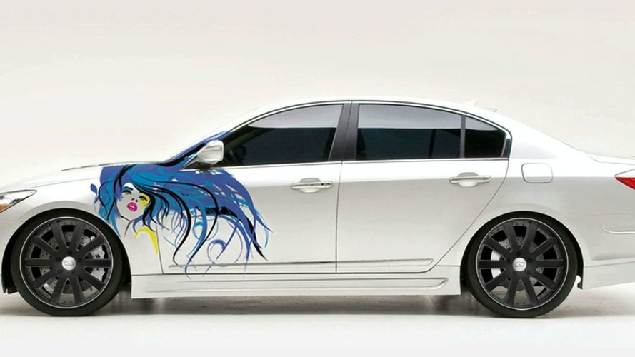 Hyundai Genesis Sedan to Receive Custom Paint Graphic Live at SEMA