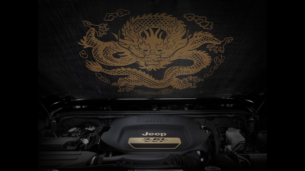 Salão de Pequim: Jeep Wrangler Dragon Concept faz homenagem ao ano do dragão na China