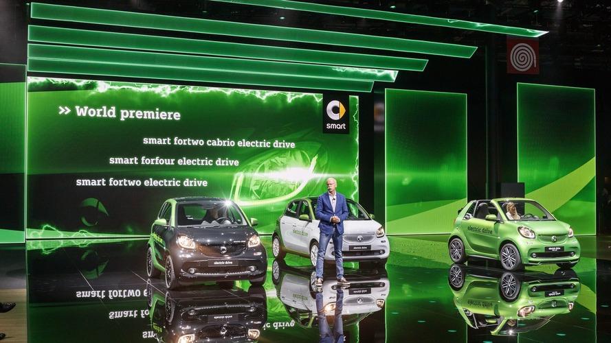 2017 Smart ForTwo Electric Drive Paris Otomobil Fuarı'nda