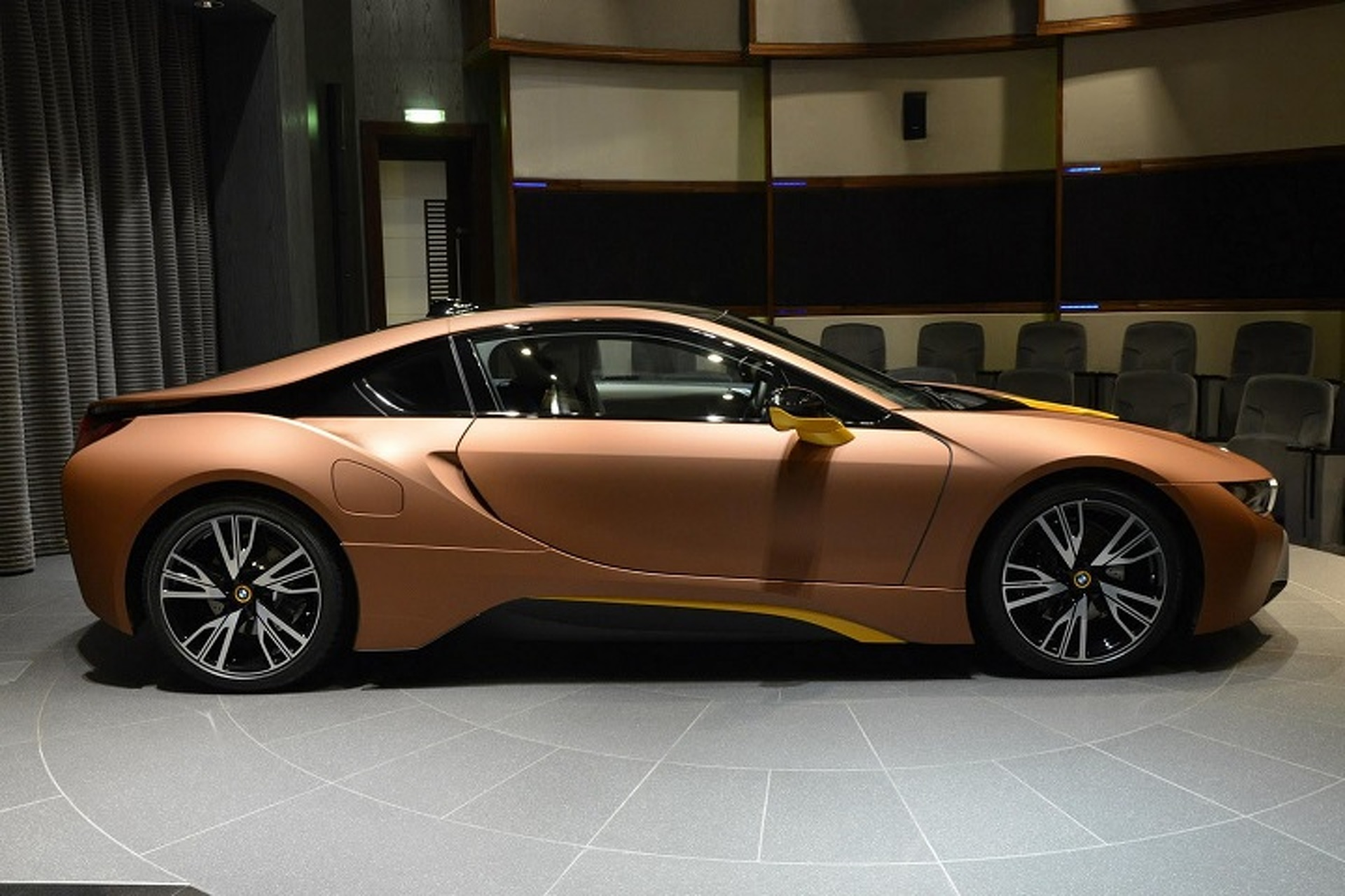 What Do You Think of This Brown and Yellow BMW i8?