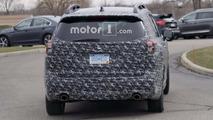 Subaru three-row crossover spy photo